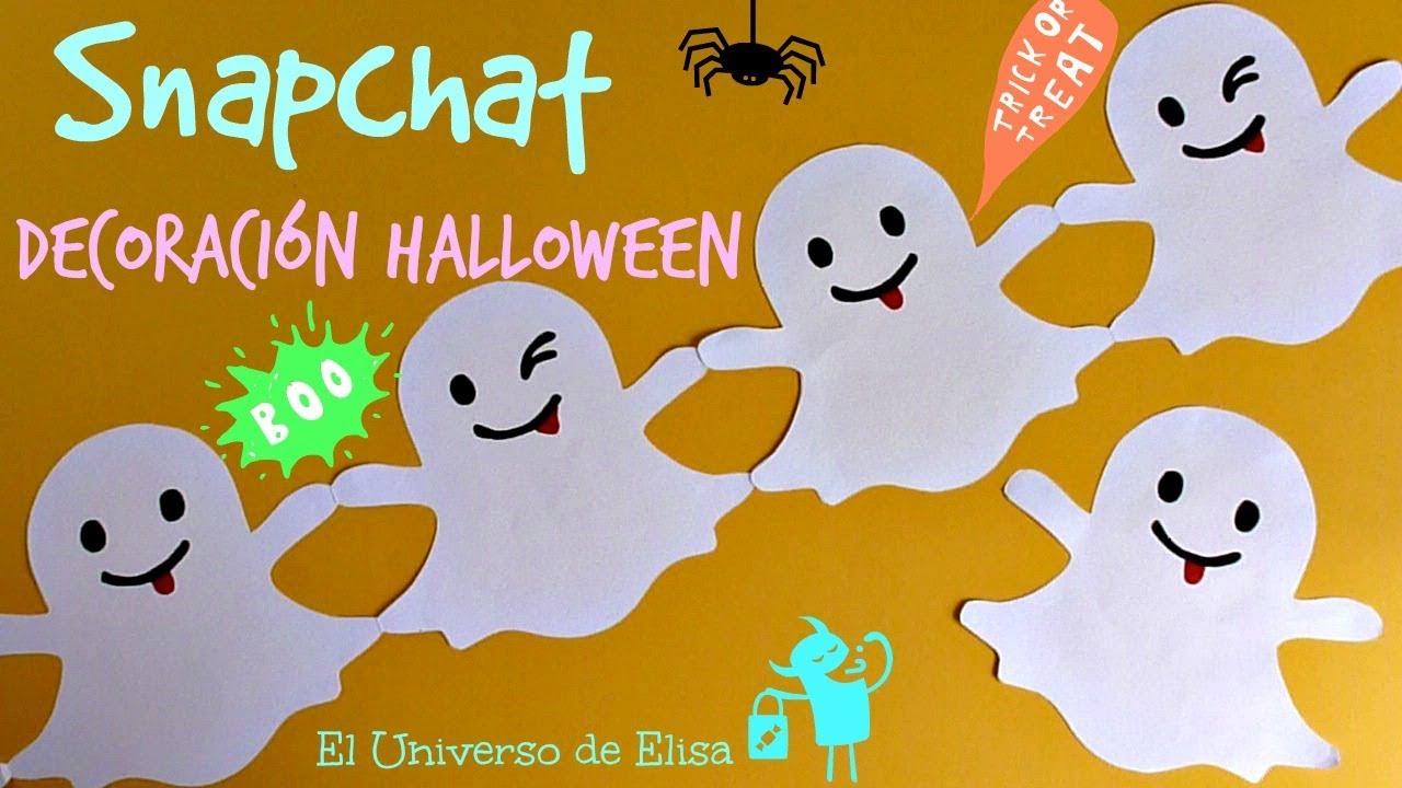 Guirnalda Snapchat , Decoración Halloween / Día de los Muertos