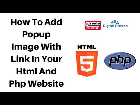 How to add popup image with link in your html and php website