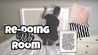 Redoing My Room In 24 Hours (Room Makeover) | LexiVee03