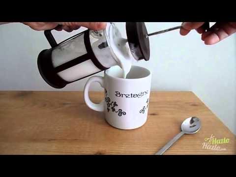 Cómo batir leche.