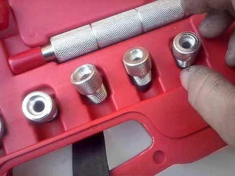 Kit para cambiar los retenes de valvula sin abrir culata.