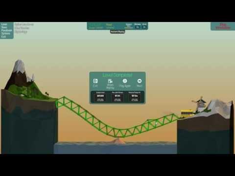 3 Poly Bridge Solutions [28m Wooden High bridge 2-1]