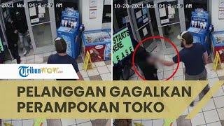 Viral Pelanggan Gagalkan Perampokan Bersenjata di Toko, Mampu Lumpuhkan Pelaku dengan Tangan Kosong
