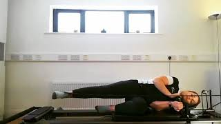 Reformer Pilates various exercises