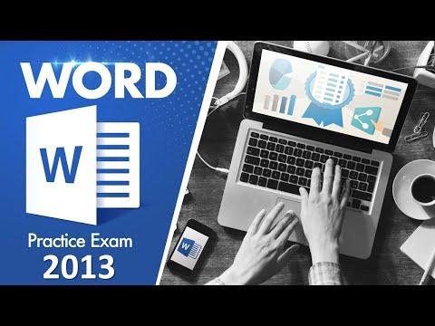 MOS Word 2013 Exam Practice Test - YouTube