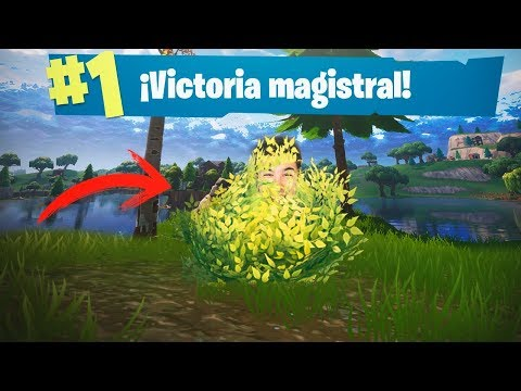 ARBUSTO GANADOR! FORTNITE: Battle Royale