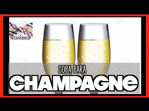 ¿Cómo elegir la copa correcta de champagne?