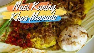 Keunikan Nasi Kuning Khas Manado, Pakai Daun Woka sebagai Bungkus