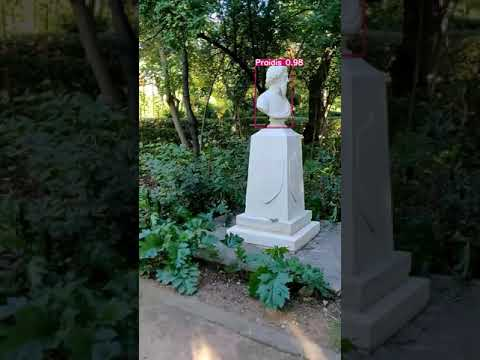 "VR-Park A.I. – Statues identification in ""Pedion Areos"" park (test video 4 – in beta)"