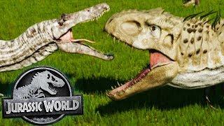 Jurassic World Evolution - MOST EPIC OF BATTLES! (Part 5) - Jurassic World Evolution Gameplay