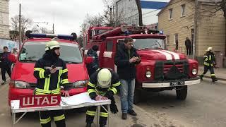 Масштабный пожар на Фонтане