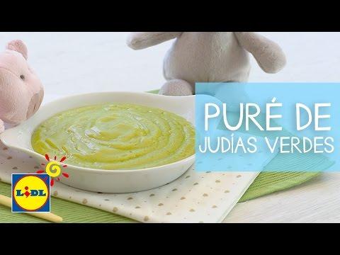 Puré De Judías Verdes y Patata - Recetas Bebés