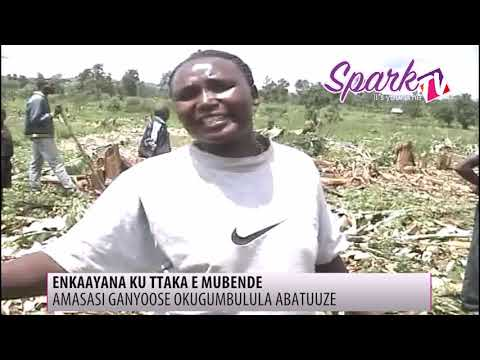 Amasasi ganyoose e Mubende lwa nkaayana ku ttaka