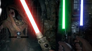 RESIDENT EVIL 8 VILLAGE - Jedi Lightsaber Gameplay