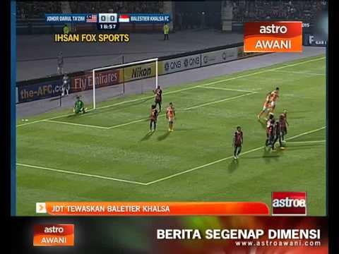 Piala AFC: JDT tewaskan Balestier Khalsa 3-0