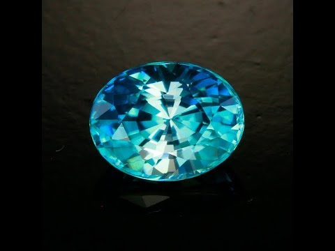 Blue Zircon Oval 2.24 Carats