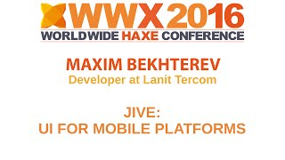 """Jive UI for mobile platforms"" by Maxim Bekhtere"