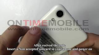 How to unlock or Check IMEI on HTC 625 Cricket