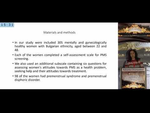 Chumpalova P. - Premenstrual dysphoric disorder and premenstrual syndrome: the patient perspective