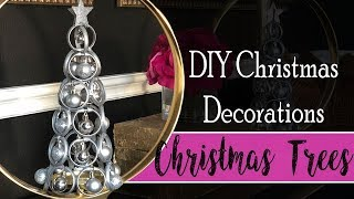 DIY Christmas Decorations - Table Top Christmas Trees