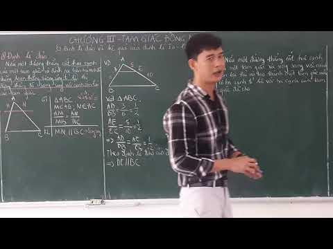 Hình học 8. Bài 2 - Định lí đảo và hệ quả của định lí Ta let