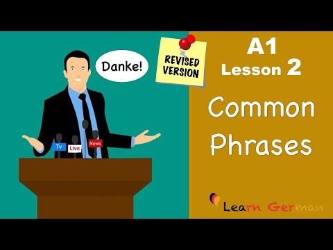 A1 - Lesson 2 | Common Phrases | German for beginners | Learn ...