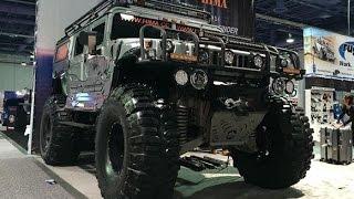 Crazy Lifted Military HUMMER :SEMA 2016