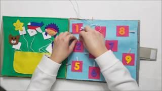Nuevo librito de fieltro  sensorial ideal para niños y niñas con necesidades educativas especiales