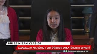 Başkan Altay makamını Damla Türkmen'e devretti! Öğrencilere yüzde 50 indirim geldi