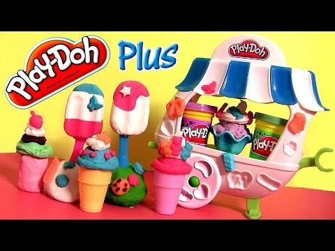 Play Doh Sundae Cart Ice Cream Shop Playset Sweet Shoppe Plus - Carrito de Helados y Paletas