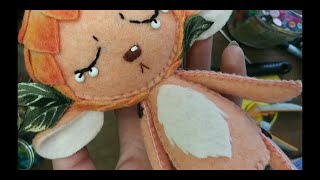 Making A Peach Themed Felt Doll Timelapse Archive #013 Pine Needle Tea #selfquarantine #crafts