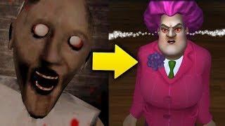 Теперь новая Бабка Злая Учительница Мисс Ти! - Scary Teacher 3D