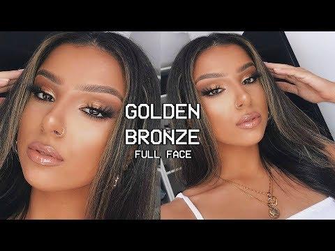 GOLDEN BRONZE FULL FACE GLAM MAKEUP TUTORIAL  |  SUMMER 2019