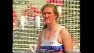 Jackie McKernan 57.56m Discus - Helsinki 1994 - Discus qualification