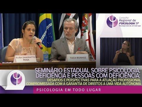 Seminário Estadual sobre Psicologia, deficiência e pessoas com deficiência