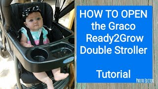 How to Open Graco Ready2Grow Click Connect Double Stroller | Graco Stroller | Tutorial
