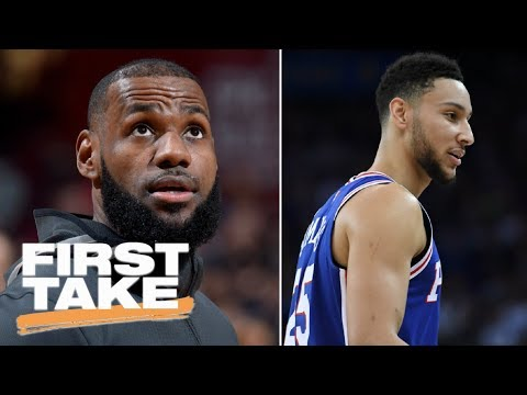 Stephen A. Smith refuses to answer Cavaliers vs. 76ers championship question | First Take | ESPN