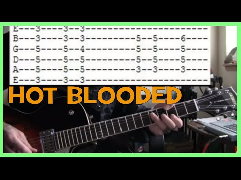 guitar lessons online Foreigner hot blooded tab