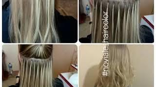 Наращивание волос, окрашивание в Технике и Стиле NOVIALE