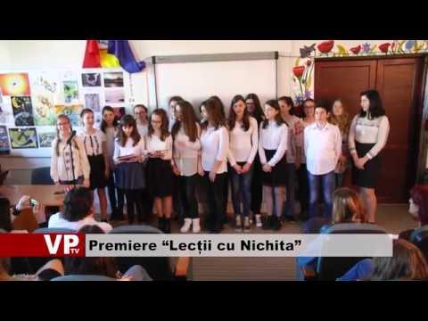 """Premiere """"Lecții cu Nichita"""""""