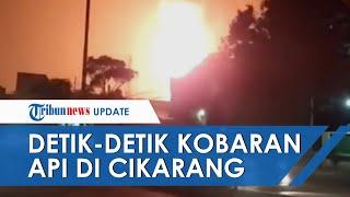 Viral Video Detik-detik Semburan Api Besar di Cikarang, Ternyata Bukan Kebakaran, Begini Kata Polisi