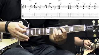 Gary Moore - Cold Day In Hell - Blues Guitar Lesson Part1 (w/Tabs)