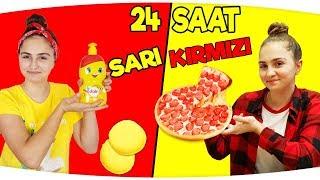 24 SAAT BOYUNCA TEK RENK ( ÇİFT RENK, HERŞEY SARI - KIRMIZI ) !!!  ( Sarı Kırmızı Pizza, Dalin )