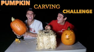 Carving Pumpkins Challenge // Dolan Twins