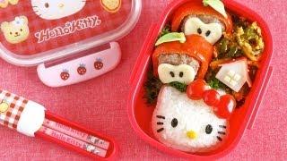 How to Make Hello Kitty Bento Lunch Box (Kyaraben Recipe) | OCHIKERON | Create Eat Happy :)
