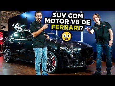 🔥SUV com Motor V8 de FERRARI no Brasil? Olha só o lançamento do Maserati Levante Trofeo