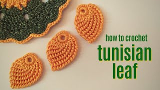 CROCHET : Leaf Crochet - How To Crochet A Tunisian Leaf For Beginners