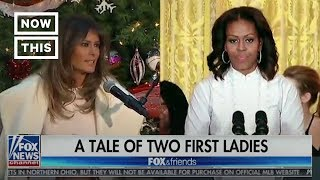 How Fox News Covered Michelle Obama vs. Melania Trump | NowThis