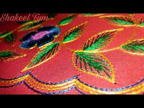 Hand Embroidery Leaf Stitch Tutorial Aari Maggam