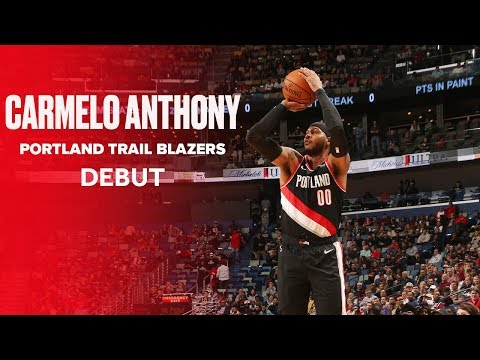Carmelo Anthony Makes Portland Debut and First Two Buckets Against New Orleans